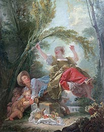 The See-Saw, c.1750/52 by Fragonard | Painting Reproduction