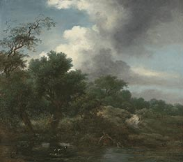 The Pond, c.1761/65 by Fragonard | Painting Reproduction