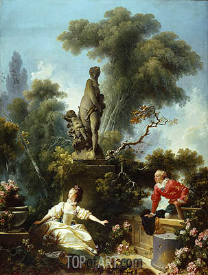 The Meeting, c.1771/73 | Fragonard | Painting Reproduction