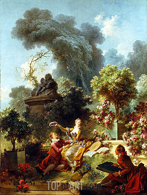 The Lover Crowned, c.1771/73 | Fragonard | Painting Reproduction