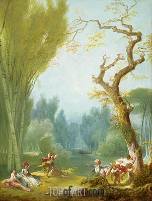 A Game of Horse and Rider, c.1767/73 | Fragonard | Gemälde Reproduktion