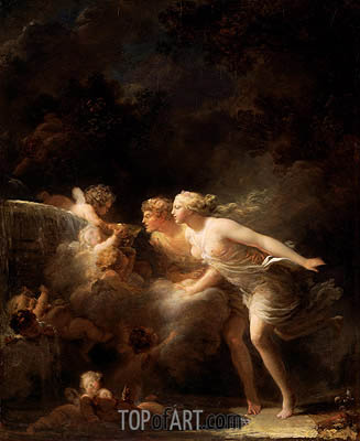 The Fountain of Love, c.1785 | Fragonard | Gemälde Reproduktion