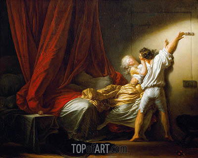 The Bolt, c.1778 | Fragonard | Gemälde Reproduktion