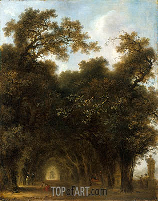 A Shaded Avenue, c.1773 | Fragonard | Gemälde Reproduktion