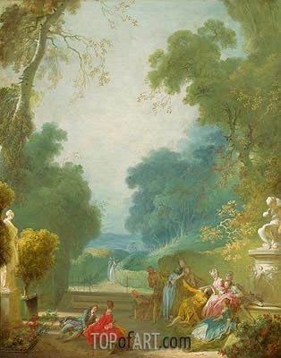 A Game of Hot Cockles, c.1767/73 | Fragonard | Painting Reproduction