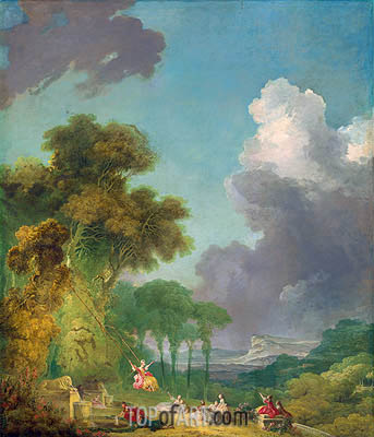 The Swing, c.1765 | Fragonard | Painting Reproduction