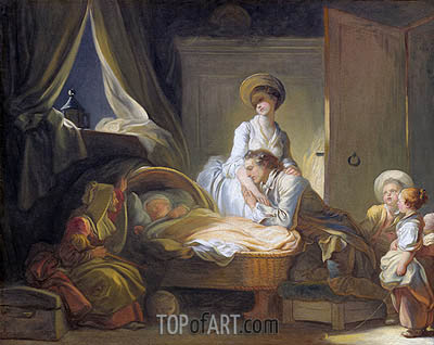 The Visit to the Nursery, c.1780/84 | Fragonard | Gemälde Reproduktion