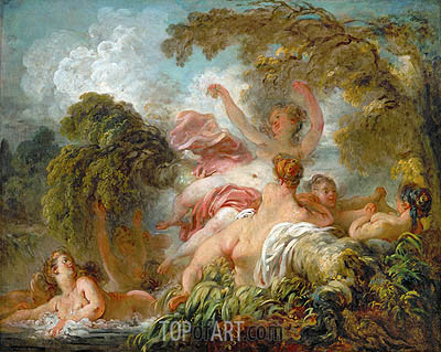 The Bathers, c.1765 | Fragonard | Painting Reproduction