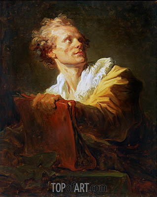 Portrait of a Young Artist, undated | Fragonard | Painting Reproduction