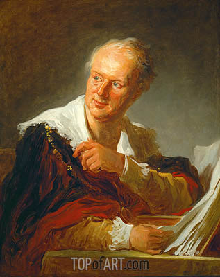 Denis Diderot, c.1769 | Fragonard | Painting Reproduction