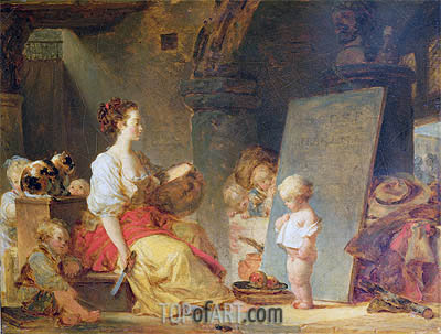 Say Please, c.1780 | Fragonard | Painting Reproduction