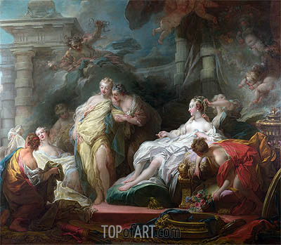 Psyche showing her Sisters her Gifts from Cupid, 1753 | Fragonard | Painting Reproduction
