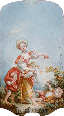 The Grape Gatherer, c.1748/52 | Fragonard | Gemälde Reproduktion