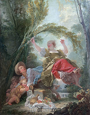 The See-Saw, c.1750/52 | Fragonard | Painting Reproduction