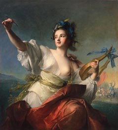 Terpsichore, Muse of Music and Dance, c.1739 von Jean-Marc Nattier | Gemälde-Reproduktion