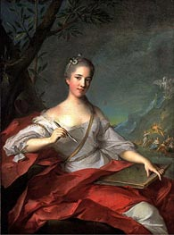 Madame Boudrey as a Muse | Jean-Marc Nattier | Painting Reproduction