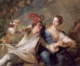 The Alliance of Love and Wine, 1744 von Jean-Marc Nattier | Gemälde-Reproduktion