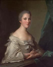 Portrait of Elizabeth Countess of Warwick, 1754 von Jean-Marc Nattier | Gemälde-Reproduktion