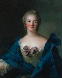 Portrait of a Woman, c.1748 von Jean-Marc Nattier | Gemälde-Reproduktion