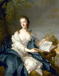 A Portrait of Princesse de Rohan, undated von Jean-Marc Nattier | Gemälde-Reproduktion