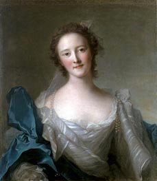 Portrait of Madame de Crozat de Thier | Jean-Marc Nattier | Gemälde Reproduktion
