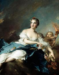 The Countess de Brac as Aurora, 1741 von Jean-Marc Nattier | Gemälde-Reproduktion