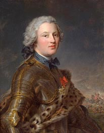 Portrait of Pierre-Victoire, Baron of Besenval, undated von Jean-Marc Nattier | Gemälde-Reproduktion