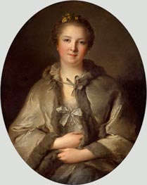 Portrait of a Woman in Grey, undated von Jean-Marc Nattier | Gemälde-Reproduktion