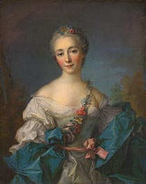 Portrait of a Lady, c.1750/60 von Jean-Marc Nattier | Gemälde-Reproduktion
