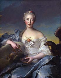 Madame de Caumartin as Hebe, 1753 by Jean-Marc Nattier | Painting Reproduction