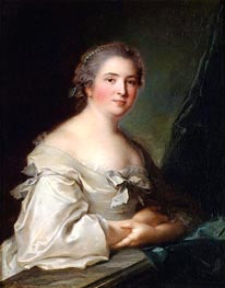 Portrait of a Lady Leaning on a Balustrade | Jean-Marc Nattier | Painting Reproduction