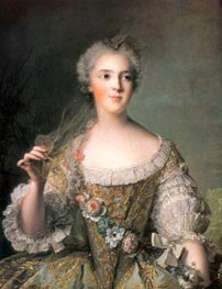 Portrait of Madame Sophie, daughter of Louis XV at Fontevrault, 1748 von Jean-Marc Nattier | Gemälde-Reproduktion