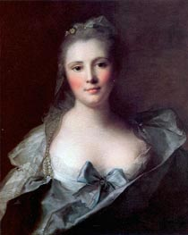 Portrait of Mademoiselle Marsollier, 1757 by Jean-Marc Nattier | Painting Reproduction