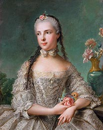 Princess Maria Isabella of Parma, 1758 by Jean-Marc Nattier | Painting Reproduction