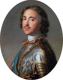 Czar Peter the Great, 1725 von Jean-Marc Nattier | Gemälde-Reproduktion