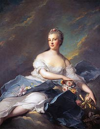 Elisabeth Rigoley d'Ogny as Aurora | Jean-Marc Nattier | Painting Reproduction