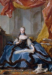 Marie-Adelaide of France | Jean-Marc Nattier | Painting Reproduction