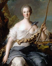 Jeanne-Antoinette Poisson, Marquise de Pompadour as Diana the Huntress, 1746 von Jean-Marc Nattier | Gemälde-Reproduktion