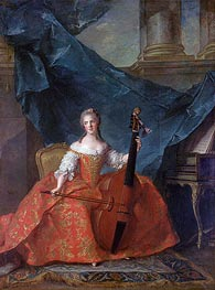 Anne-Henriette of France, 1754 by Jean-Marc Nattier | Painting Reproduction