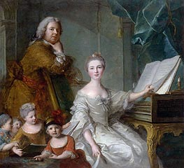 Jean-Marc Nattier and his Family, c.1730/62 by Jean-Marc Nattier | Painting Reproduction