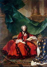 Marie Leczinska, Queen of France | Jean-Marc Nattier | Painting Reproduction