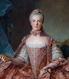 Marie-Adelaide of France, 1756 by Jean-Marc Nattier | Painting Reproduction