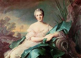 Victoire de France as the Element of Water, c.1750/51 by Jean-Marc Nattier | Painting Reproduction