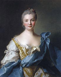 Madame de la Porte, 1754 by Jean-Marc Nattier | Painting Reproduction