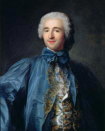 Portrait of a Gentleman in a Blue Coat, undated by Jean-Marc Nattier | Painting Reproduction