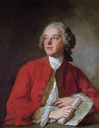 Pierre Augustin Caron de Beaumarchais, undated by Jean-Marc Nattier | Painting Reproduction