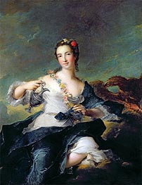 Portrait of a Young Woman as Hebe, undated by Jean-Marc Nattier | Painting Reproduction