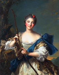 Mademoiselle de Migieu as Diana, 1742 by Jean-Marc Nattier | Painting Reproduction