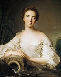 Louise Henriette de Bourbon-Conti, Later Duchesse d'Orléans, 1738 by Jean-Marc Nattier | Painting Reproduction