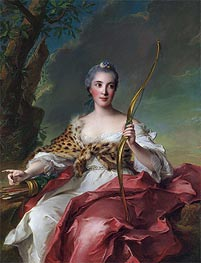 Madame de Maison-Rouge as Diana, 1756 by Jean-Marc Nattier | Painting Reproduction